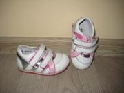 Кожаные ортопедические кроссовки для девочки