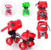 Роликовые коньки раздвижные 4-колесные Profi Roller для детей