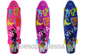 Пенни борд (Penny Board) скейтборд розовый,  синий,  фиолетовый