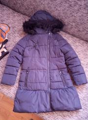 очень красивое и удобное теплое пальто next на 7-8 лет